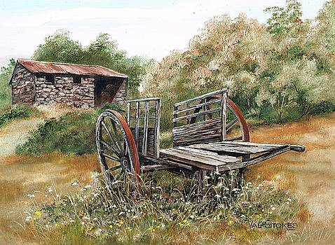 Wonky wheels by Val Stokes