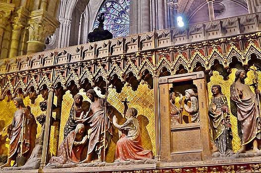 Wood Carvings at the Notre Dame Cathedral Paris France by Kim Bemis