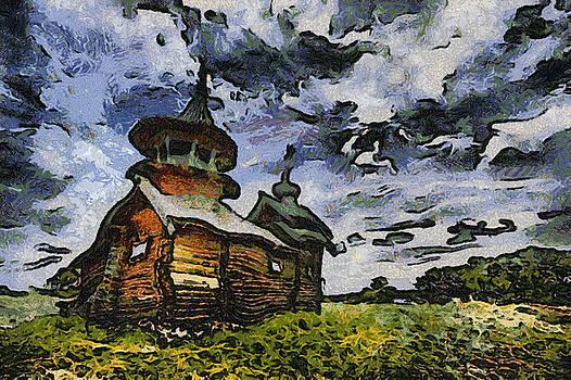 Wood Russian Church by Ferran Badia