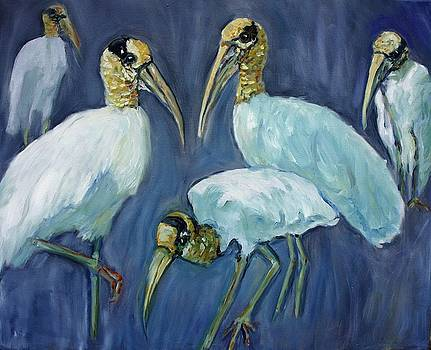 Wood Storks by Ruth Mabee