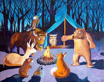 Judi Krew - Woodbadge Bear at the Campfire