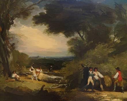 West Benjamin - Woodcutters In Windsor Park 1795