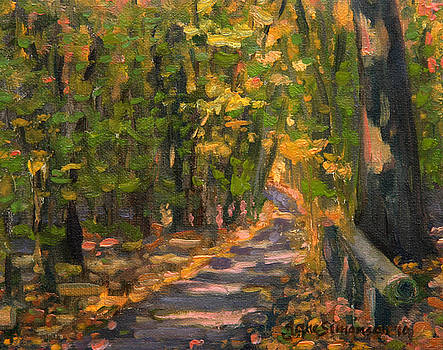 Wooded Trail by Jane  Simonson