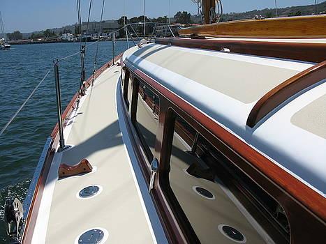 Wooden Boat Series - Port Side by PJ  Cloud
