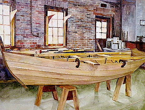 Wooden Boat by Wendy Hill