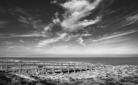 Wooden Bridge To The Sea by Gary Gillette