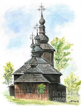 Wooden church by Jana Goode