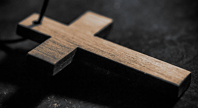 Wooden Cross by Lonnie Paulson