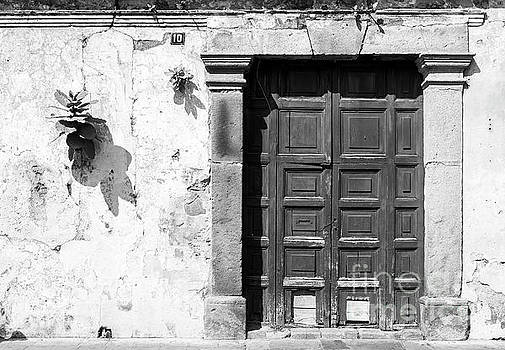 Tim Hester - Wooden Door Antigua Guatemala Black and White