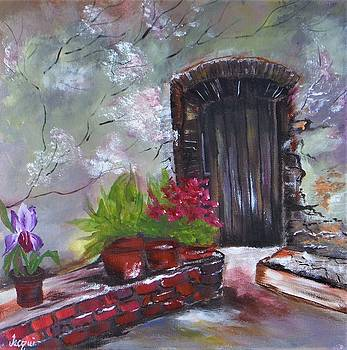Wooden Door Entryway by Jacqueline Whitcomb