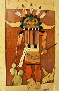 Wooden Kachina Door by Patrick Trotter