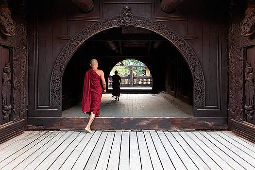 Wooden Monastery by Marji Lang