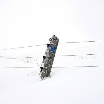 BERNARD JAUBERT - Wooden post in winter