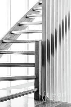 Tim Hester - Wooden Staircase Black and White