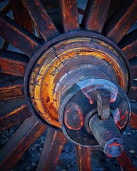 Wooden Wheel Hub by Flying Z Photography By Zayne Diamond