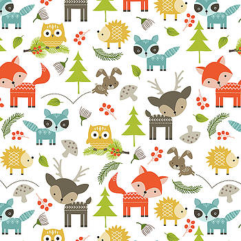 Woodland Animals by Tiffany Dawn Smith