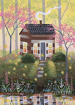 Woodland Cabin by Mary Charles