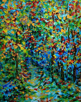 Woodland Path - Autumn by Laura Heggestad