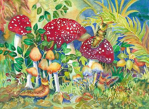 Woodland Visitors by Ann Nicholson