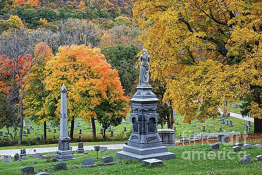 Woodlawn Cemetery Winona MN Fall Colors by Kari Yearous