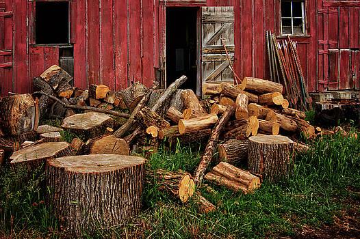 Nikolyn McDonald - Woodpile - By the Barn