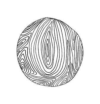 Woodprint 5 by Cortney Herron