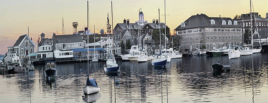 Woods Hole from the Eel Pond by Carl Sheffer