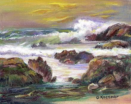 Woods Sunset Beach 1 by Olga Kaczmar