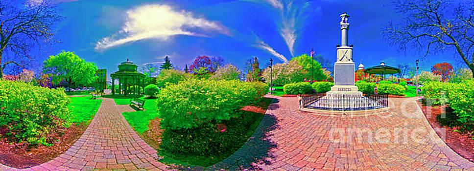 Woodstock square spring  east by Tom Jelen