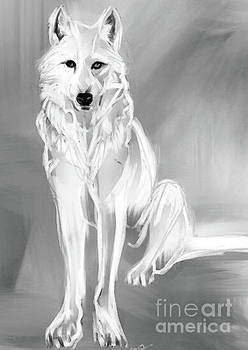 Wolf White by Go Van Kampen