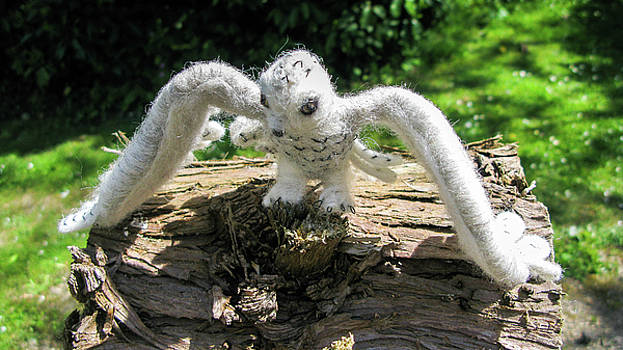 Woollen Snow Owl by Maria Joy
