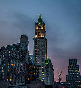 Woolworth Building at Night by Alida Thorpe