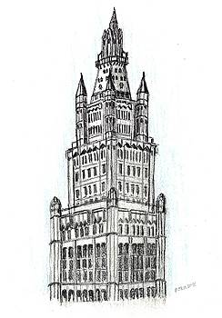Woolworth Building NY by Paul Meinerth