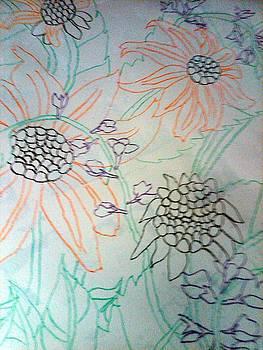 Work in Progress - Sunflowers by Crystal N Puckett