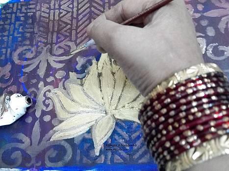 Rizwana Mundewadi - Work in progress the Golden Lotus