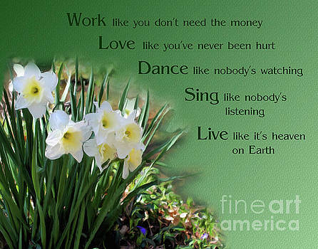 Work Love Dance Sing Daffodils Inspirational by Smilin Eyes  Treasures