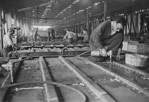 Chicago and North Wester - Workers at Clinton Machine Shop