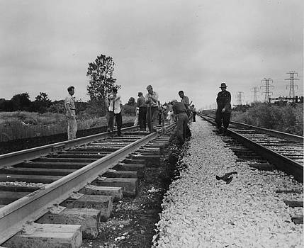 Chicago and North Western Historical Society - Workers on the Rails - 1957