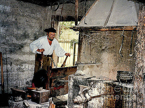 Working Blacksmith at Farmer's Museum - Cooperstown NY by Merton Allen