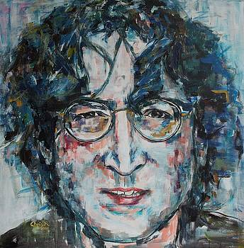 Working Class Hero Lennon by Christel Roelandt