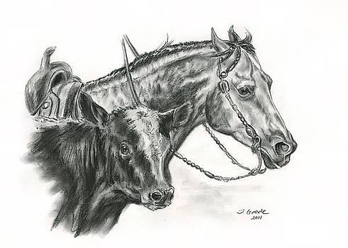 Working Cowhorse by Jana Goode