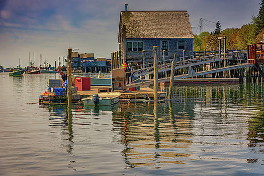 Working on the Dock by Rick Berk