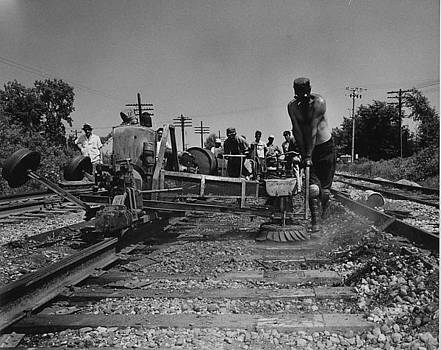Chicago and North Western Historical Society - Working on Track - 1959