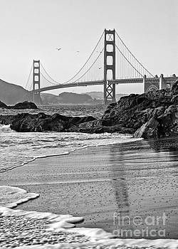 Jamie Pham - World famous Golden Gate Bridge with a scenic beach.