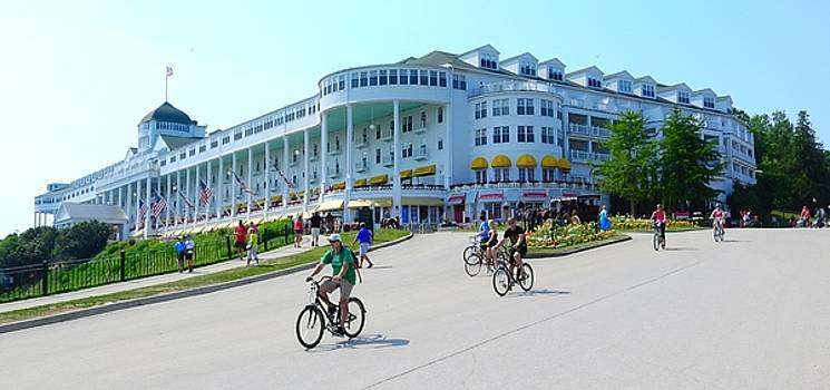 World Famous Grand Hotel of Mackinac Island Michigan by Mikel Classen