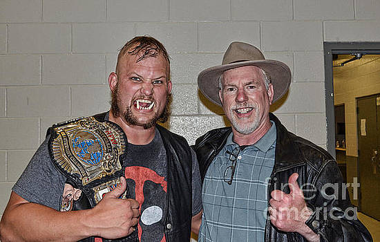 Jim Fitzpatrick - World Heavyweight Wrestling Champion War Pig Jody, son of Kris Kristofferson, and Me