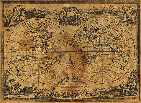 World Map 1788 by Kitty Ellis