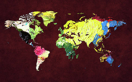 World map artist artwork for sale clarksville ar united world map 8 by world map gumiabroncs Image collections
