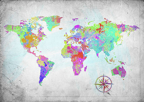 Ricky Barnard - World Map Paint Splatter