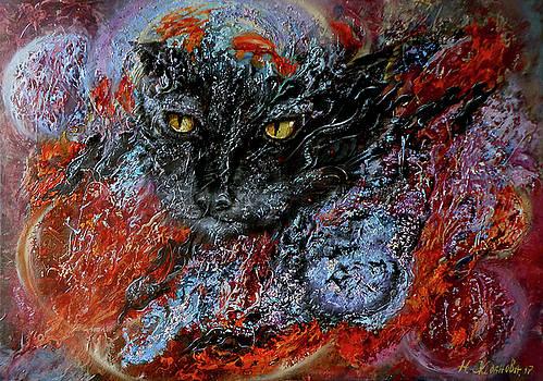 Surreal Painting World of eternal hunt by Natalya Zhdanova